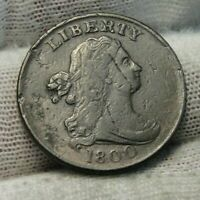 1800 DRAPED BUST HALF CENT,  COIN, SHIPS FREE  9327