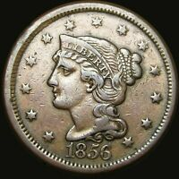 1856 BRAIDED HAIR LARGE CENT TYPE PENNY --- TYPE COIN --- V990