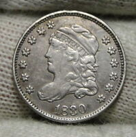 1830 CAPPED BUST HALF DIME H10C 5 CENTS   NICE OLD COIN    7997