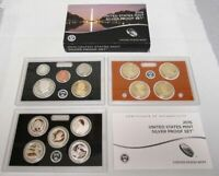 2015 US MINT SILVER PROOF SET WITH BOX & COA  14 COINS