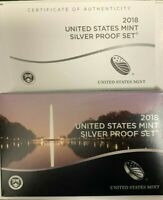 2018 US MINT SILVER PROOF SET WITH BOX & COA  10 COINS