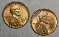 PAIR OF 1940 D & S LINCOLN CENTS, CHOICE UNCIRCULATED   0509-06