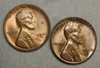 PAIR OF 1940 D & S LINCOLN CENTS, CHOICE UNCIRCULATED   0509-05