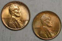 PAIR OF 1940 D & S LINCOLN CENTS, CHOICE UNCIRCULATED   0509-04