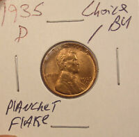 1935 D LINCOLN CENT CHOICE BU.COMBINED SHIPPING $3.50..LOT5403