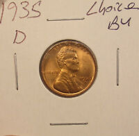 1935 D LINCOLN CENT CHOICE BU.COMBINED SHIPPING $3.50..LOT5404