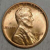 1942-D LINCOLN CENT, CHOICE TO GEM UNCIRCULATED   0511-11