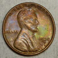 1930-S LINCOLN CENT, CHOICE ALMOST UNCIRCULATED, INTERESTING COLOR      0511-05