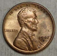 1942-S LINCOLN CENT, CHOICE UNCIRCULATED, DISCOUNTED BETTER DATE   0511-13