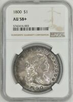 1800 DRAPED BUST DOLLAR $ AU58 NGC 942652-10