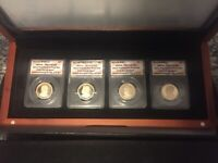 2013 S PRESIDENTIAL DOLLAR 4 COIN PROOF SET ANACS PR70 DCAM BOX & CASE