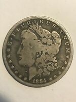 EARLY - 1884 P MORGAN DOLLAR - 90 SILVER US COIN 111
