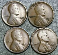 1913-S 1915-S 1922-D 1924-S LINCOLN CENT WHEAT CENT -----  LOT ----- Z726