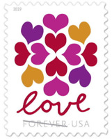 LOVE HEARTS BLOSSOM USPS FOREVER STAMPS 15 PANES OF 20  300 STAMPS  USA 565000