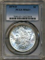 1879-O MORGAN PCGS MINT STATE 63 BRIGHT WHITE SILVER DOLLAR COIN NEW ORLEANS MINT BU $1