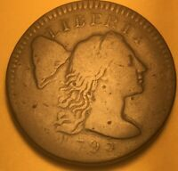 1795 FLOWING HAIR LARGE CENT S-77 FINE, R-4