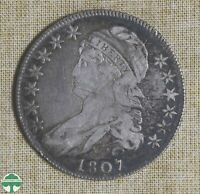 1807 CAPPED BUST HALF DOLLAR   LARGE STARS   SCRATCHES   GOO
