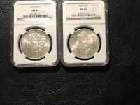 1878-S MORGAN DOLLARS 2 COINS IN THIS LOT NGC 64 1 LOOKS MINT STATE 65