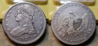 1837 CAPPED BUST HALF DOLLAR 50C FROM 1960 COLLECTION  NICE