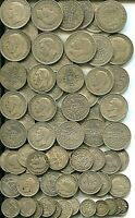 5 PRE1947 HALFCROWNS TO THREEPENCES ALL DIFFERENT 8.94 TR OZ