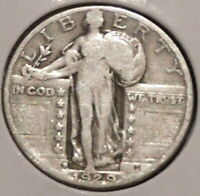 STANDING LIBERTY SILVER QUARTER - 1929-D - OVERSTOCK - $1 UNLIMITED SHIPPING-E21