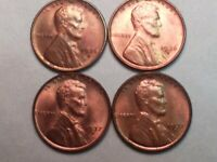 LINCOLN WHEAT CENTS  1936-D, 1936-S, 1937-D, AND 1937-S. LOT OF 4 TOTAL.