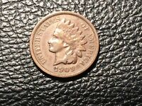 1909-S INDIAN HEAD CENT LOOKS VF BUT MAY HAVE BEEN  CLEANED READY FOR A SET