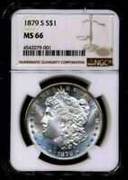 1879-S MORGAN NGC MINT STATE 66 PL ALMOST PROOF LIKE SILVER DOLLAR SAN FRANCISCO MINT