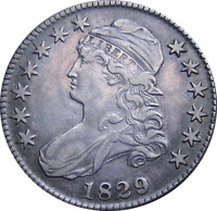 1829 CAPPED BUST HALF DOLLAR O 110 EARLY SILVER TYPE COIN NI