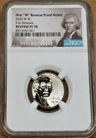 2020 FIRST W REVERSE PROOF NICKEL NGC REV PF70 FIRST RELEASE