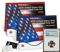 2019 UNCIRCULATED COIN SET W/ FIRST