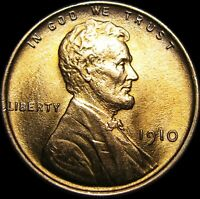 1910 LINCOLN CENT WHEAT CENT ---- GEM BU ---- A239