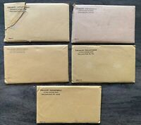 5 UNITED STATES MINT SILVER PROOF SETS 1960 1961 1962 1963 1