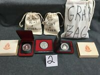 COIN GRAB BAG 2 WITH 2 CANADA SILVER DOLLARS U.S. & WORLD CO