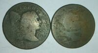 CAPPED BUST LARGE CENT & NEW JERSEY COLONIAL COIN