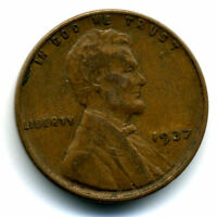 1937 P WHEAT CENT 1 CENT KEY DATE US CIRCULATED ONE LINCOLN  COIN1418