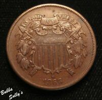 1866 TWO CENT PIECE <> LY FINE