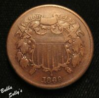 1869 TWO CENT PIECE <> VF DETAILS