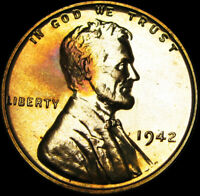 1942 PROOF LINCOLN CENT PENNY ---- GEM PROOF STUNNING ----  A840