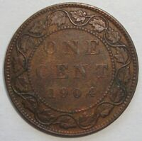 1904 CANADA ONE 1 CENT EDWARD VII LARGE PENNY COIN