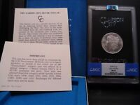 1878-CC MINT STATE 62 GSA HOARD MORGAN SILVER DOLLAR NGC CERTIFIED WITH BOX/COA - WHITE