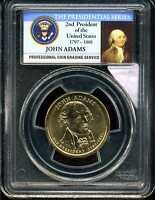 2007-P $1 JOHN ADAMS DOLLAR DOUBLED EDGE LETTERS OVERLAPPED MINT STATE 64 PCGS 13430461