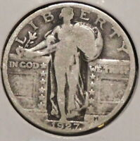 STANDING LIBERTY SILVER QUARTER - 1927 - OVERSTOCK - $1 UNLIMITED SHIPPING-S31