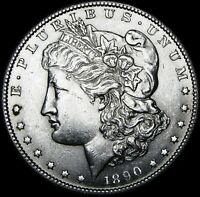 1890-S MORGAN DOLLAR SILVER ---- GEM BU  ---- B255