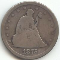 1875 S 20C PIECE TWENTY CENTS GOOD