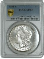 1898-S MORGAN DOLLAR $ MINT STATE 65 PCGS SECURE 942412-9