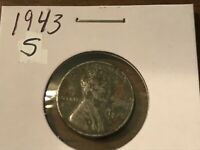1943 S LINCOLN STEEL WHEAT CENT  529  VF