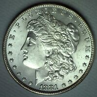1881 MORGAN SILVER DOLLAR COIN UNCIRCULATED ONE DOLLAR US $1 PHILADELPHIA MINT