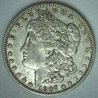 1897 O MORGAN SILVER DOLLAR COIN US ONE DOLLAR $1 EXTRA FINE NEW ORLEANS