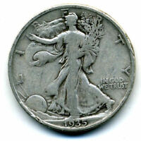 1935 P WALKING LIBERTY HALF DOLLAR KEY DATE SILVER  50 CENT COIN U.S 103143